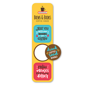 Pop Bookmark Stickers - Circle/Squares