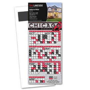 Hockey Schedule Magnetic Stick Up Card