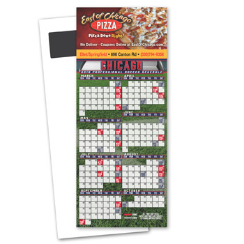 Soccer Schedule Magnetic Stick Up Card