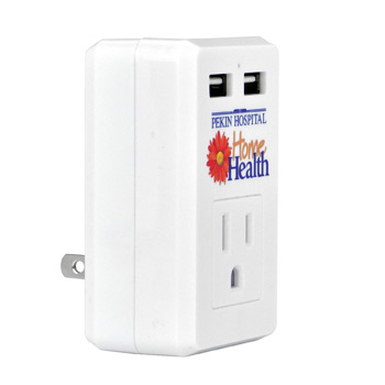 Double USB and AC Multifunctional Travel Outlet
